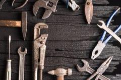 Много различных инструментов как промышленная предпосылка Стоковая Фотография RF