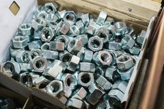 Много различных инструментов крепления используемых в конструкции и в изготовлении ремонта Стоковое фото RF