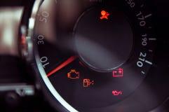 Много различных освещений приборной доски автомобиля Стоковая Фотография