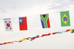 Много различных флагов против неба Стоковое фото RF