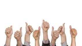 Много рук показывая большие пальцы руки вверх видеоматериал