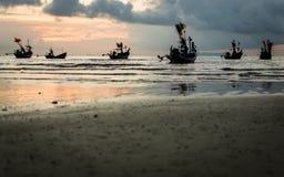Много рыбацкая лодка в море стоковое фото rf