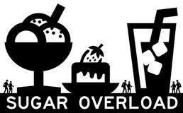 много сахар слишком Стоковая Фотография RF