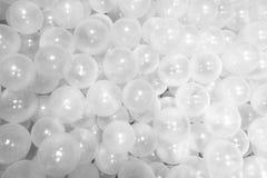 Много серия белого шарика или прозрачной предпосылки шарика пузыря Стоковые Изображения