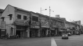 Много старых домов на меньшей Индии в Куалае-Лумпур, Малайзии Стоковая Фотография