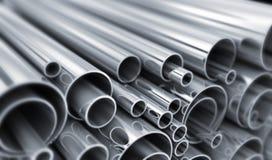 Много стальная трубка Стоковые Изображения