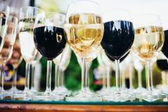 Много стекел вина Стоковое Изображение RF