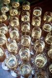 Много стекла с шампанским Стоковое Изображение