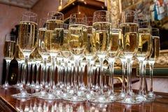 Много стекла с шампанским Стоковые Изображения RF