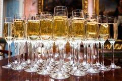 Много стекла с шампанским Стоковые Фото