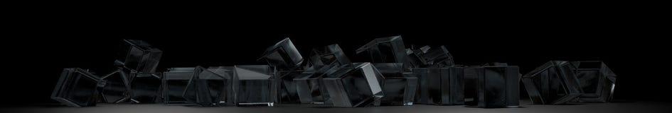 Много стеклянных кубов Стоковое фото RF