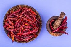 Много стручков высушенного красного перца chili на пастельной предпосылке Стоковые Фото