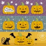 Много тыква подготовленная на хеллоуин иллюстрация штока