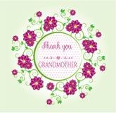 Много цветков сини с текстом - спасибо, Стоковое Фото