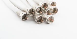 Много чокнутых коаксиальных кабелей Стоковые Фотографии RF