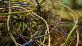Много электрические провода акции видеоматериалы