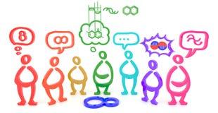 Много людей видят одну вещь в различных аспектах (3D) Стоковое Изображение RF