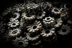 Много metal шестерни cog стоковое фото rf