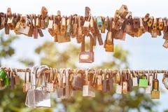 Много padlocks влюбленности Стоковое Изображение RF