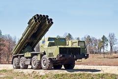Множественная ракетная установка в положении боя Стоковое фото RF