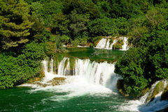 множественные водопады rapids Стоковое фото RF
