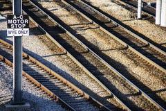 Множественные железнодорожные пути Стоковые Фотографии RF