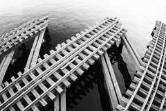 Множественные железнодорожные пути Стоковое Фото
