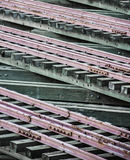 Множественные железнодорожные пути Стоковое фото RF