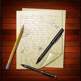 Множественные листы белой бумаги Стоковая Фотография RF