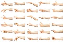 Множественные мужские кавказские жесты рукой стоковое изображение