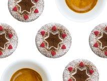 Множественные пирожные и кофе Стоковое фото RF
