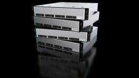 множественные серверы шкафа иллюстрация вектора