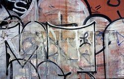 Множественные слои противозаконных граффити Стоковое фото RF