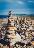 Множественные стога камня Стоковое Изображение
