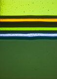 Множественные слои ручной работы стекла в различных цветах Стоковые Изображения