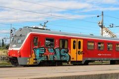 Множественный поезд блока, железнодорожный вокзал Любляны Стоковые Фотографии RF