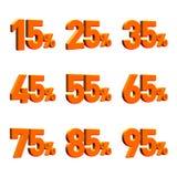 множественный процент 3d представляет Стоковая Фотография RF