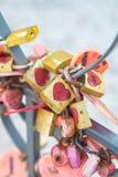 Множество влюбленности красного замка сердца Romance Стоковые Изображения