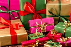 Множество обернутых подарков Стоковая Фотография RF
