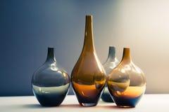 Множество стеклянных ваз стоковое изображение rf