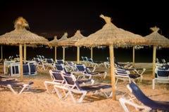 Множество loungers солнца Стоковая Фотография RF