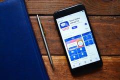 Мобильное приложение для приказывая вещей стоковое фото