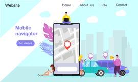 Мобильные навигатор или транспорт города иллюстрация вектора
