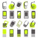 мобильные телефоны элементов конструкции Стоковое Изображение