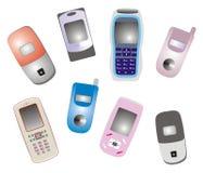 мобильные телефоны иллюстрация вектора