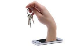 Мобильные устройства новая угроза в безопасности данных стоковое изображение rf