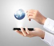 Мобильный телефон в руке Стоковое Изображение RF