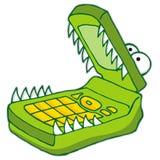 мобильный телефон голодный Стоковые Изображения