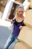 мобильный телефон девушки предназначенный для подростков Стоковые Изображения RF