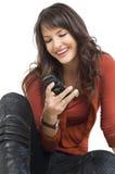 мобильный телефон девушки Стоковая Фотография RF